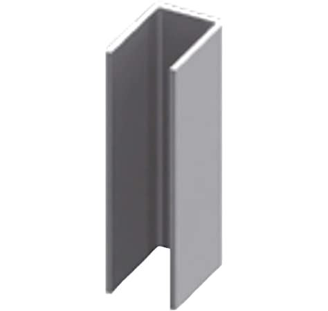 Perfil en U de acero inoxidable para mampara de ducha de 2200 mm perforado – 8 mm: Amazon.es: Bricolaje y herramientas