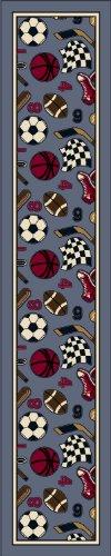 Milliken Design Center Good Sport Lapis Novelty Rug Runner 2'4'' x 15'6'' by Milliken