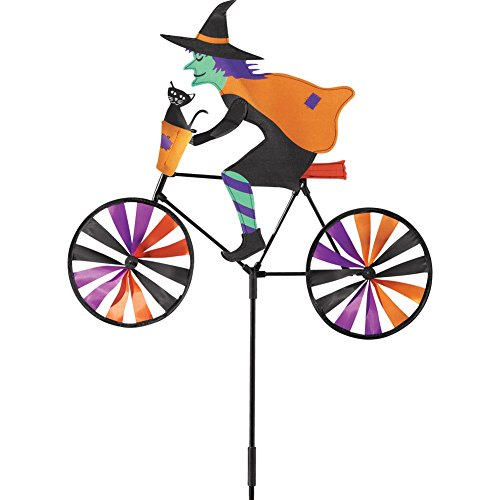 Halloween Witch, Colorful Wind Spinner Garden Stake (Halloween Garden)