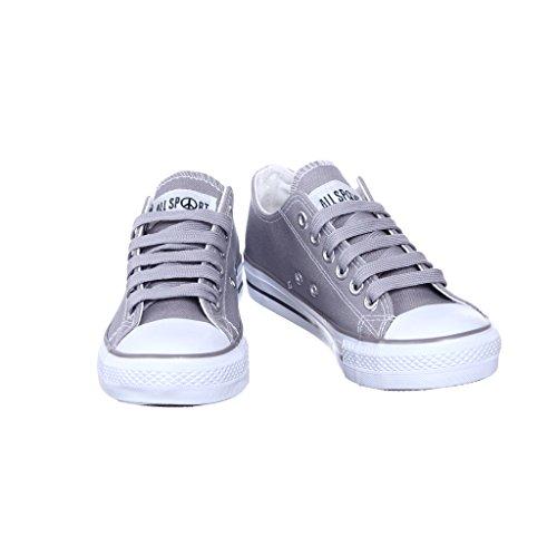 Nuovo Stile!! Sneaker Da Donna Classica Da Skate In Tela Best Seller Grigio
