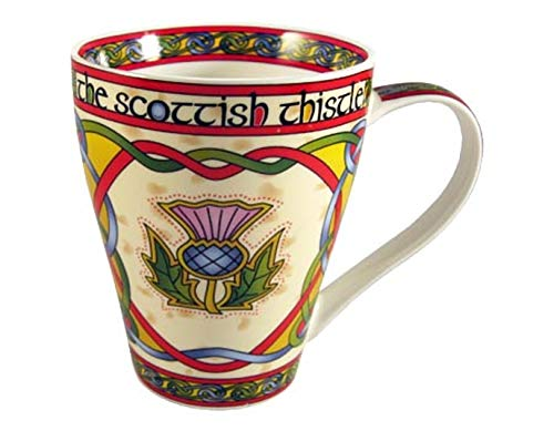 (The Scottish Thistle Celtic Mug - Royal Tara Ireland)