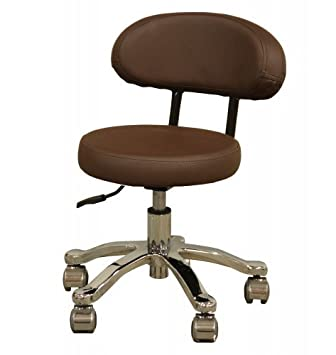 Amazon.com: Minerva Pedicure Stool in Coffee: Beauty