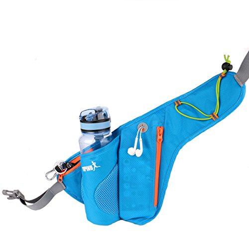 Unisex Waist Bag Pack Sports Travel Cycling Waist Purse Pink - 2