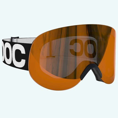 POC Lid All Black Ski Goggles, Uranium Black, One Size by POC