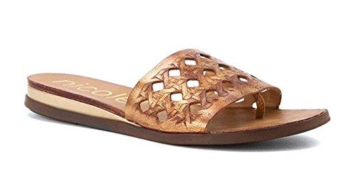 nicole Women's Ainslie Gold Thong Sandals