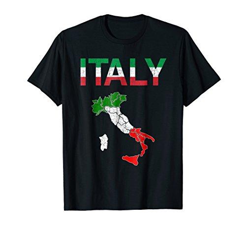 (Italy Flag Vintage Italian T shirt Italia for men women kids)