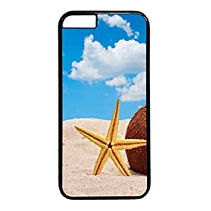 Starfish And Coconut In Beach Sand Protective Hard Plastic Back Fits Cover Case for iphone 6 4.7(inch)-1122037