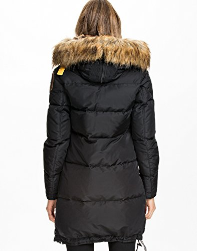 Parajumpers Women's Masterpiece Eco Long Bear Jacket Black X-Large: Amazon.co.uk: Clothing