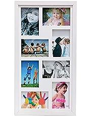 Quadro Painel Multifotos 8 fotos 10x15 Paspatur e Vidro Comum