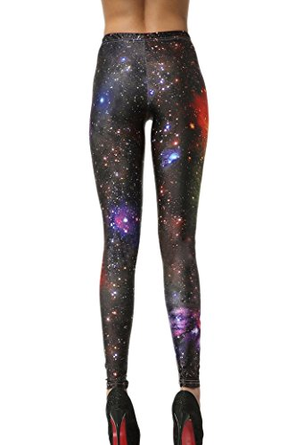 Tour De Extensible Slim Multicolore Haute Pantalon Élastique Sexy Galaxie 58 Legging Optique Mince Femme Imprimé Aivtalk 84cm Skinny fille Taille Jaune 0xZF1q