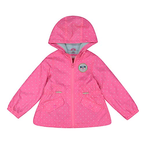 Carter's Baby Girls Midweight Fleece Lined Anorak Jacket, Dots On Flamingo Pink, 12 Months