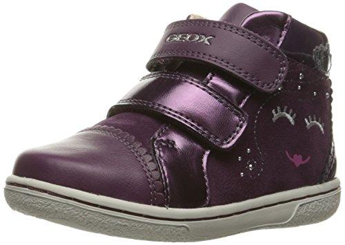 Geox Girls' B Flick 42-K Sneaker, Prune, 26 EU(9 M (42 Prune)