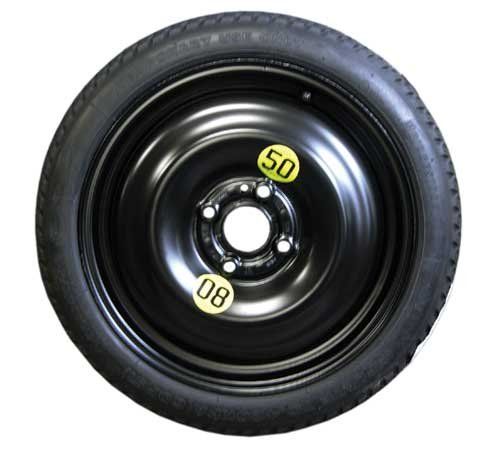 (MINI Cooper/Cooper S Spare Tire Space Saver 15in. 4-Lug for Clubman R55, Hatchback R56, Convertible R57, Coupe R58, Roadster R59)