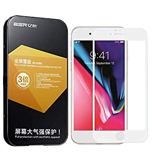 Apple iPhone 7 (4.7 inch) ESR 3D Soft Edge Full Coverage Tempered Glass Screen Protector - White