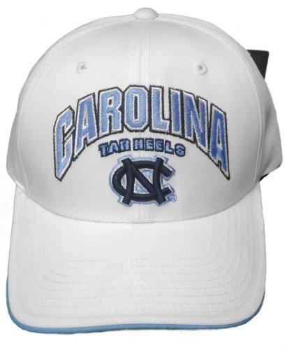 New! North Carolina Tar Heels Adjustable Back Hat Embroidered Cap - White