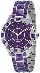 Christian Dior Christal Purple Dial Diamond Purple Sapphire Automatic Ladies Watch CD144515M001
