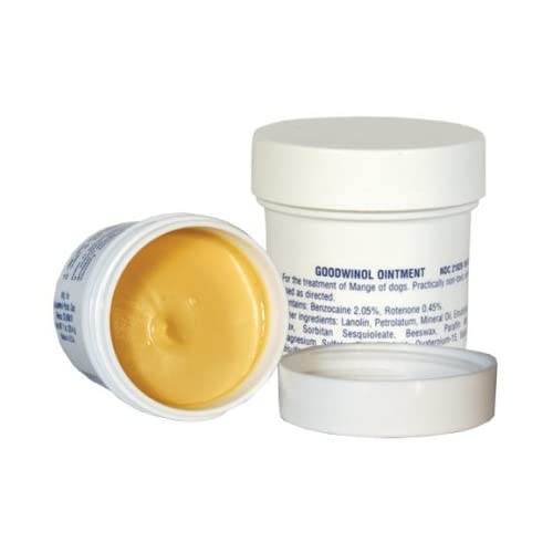 Goodwinol Ointment Demodectic and Follicular Mange for Dogs 1 oz durable service