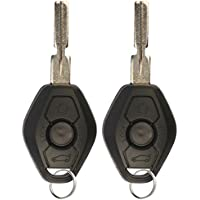 KeylessOption Keyless Entry Remote Control Car Key Fob Notch Style Replacement for LX8 FZV (Pack of 2)