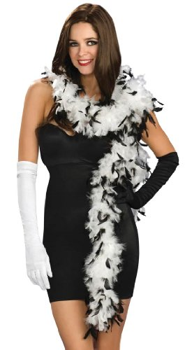 Black & White Feather Boas (Black And White Party Costumes)