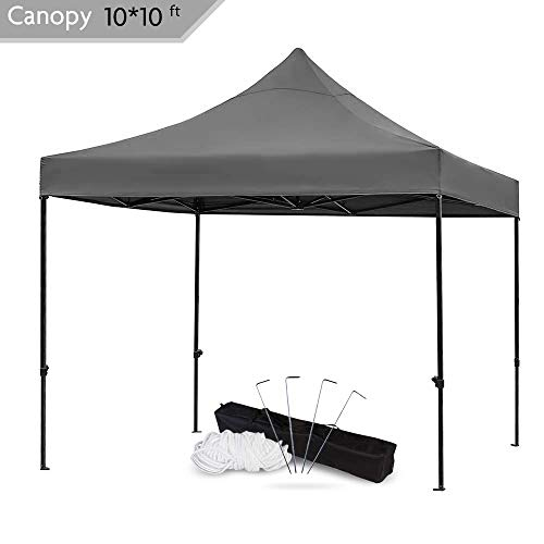 - Snail 10x10-FT Easy Pop up Canopy Tent with Heavy Duty 420D Waterproof and UV-Treated Cover, Shade for Beach Outdoor Commercial Tent Instant Sun Shelter Gazebo with Carrying Bag, Black