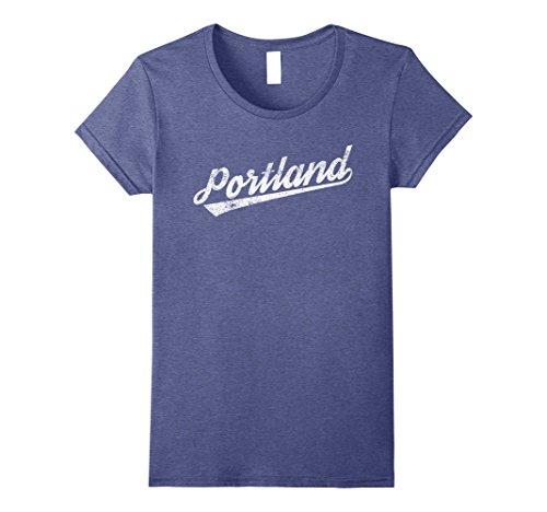 Womens Retro Vintage Portland Oregon Gift Souvenir T Shirt Medium Heather Blue