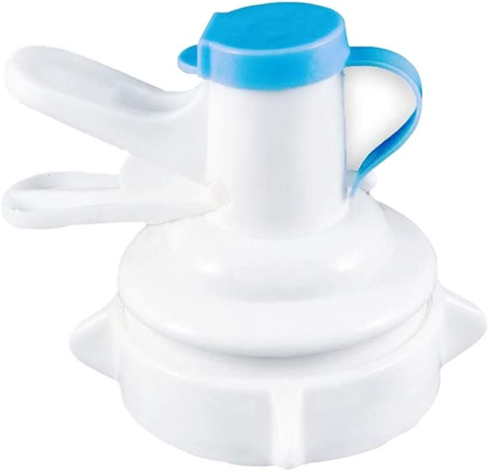 Water Dispenser Valve for 55mm Crown Top Drinking Bottle, Manual Reusable Water Jug Cap Plastic Device, Includes Lid Dirt Protector Blue(Not Fits for Threaded Crown Tops), by GuangTouL