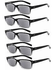 Eyekepper 5-Pack Spring Hinges Vintage Eyeglasses Men