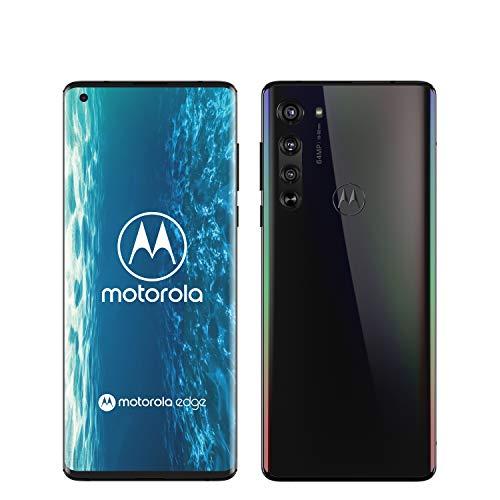 Motorola Edge – Smartphone 5G, pantalla curva o-notch 90 grados de 6.7″ FHD+, Snapdragon SM7250, cámara 64 MP, batería 4500 mAH, Dual SIM, 6/128 GB, Android – Negro [Versión ES/PT]