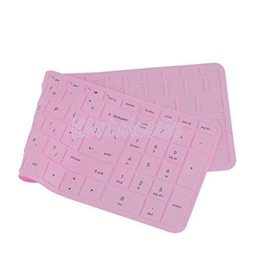 [해외]HP 파빌리온 15 ''노트북 핑크 용 실리콘 키보드 커버 키패드 스킨/Silicone Keyboard Cover Keypad Skin for HP Pavilion 15`` Laptop Pink