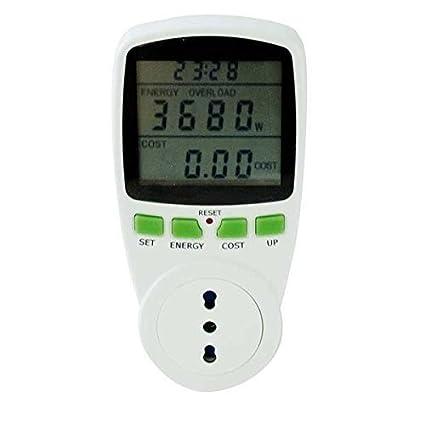 Power Meter LCD 230 V 16A-herramienta de seguimiento del consumo ...