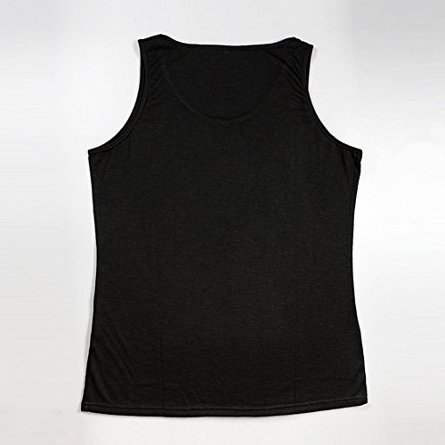 WUAI Mens Workout Tank Tops Fashion Muscle Gym Pullover Fitness Sleeveless T-Shirts Vest(Black,US Size L = Tag XL) by WUAI (Image #3)