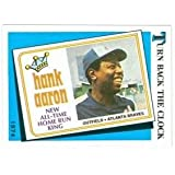 Hank Aaron baseball card 1989 Topps #663 (Atlanta Braves) Turn Back The Clock