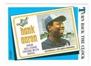 Amazon.com : Hank Aaron baseball card 1989 Topps #663