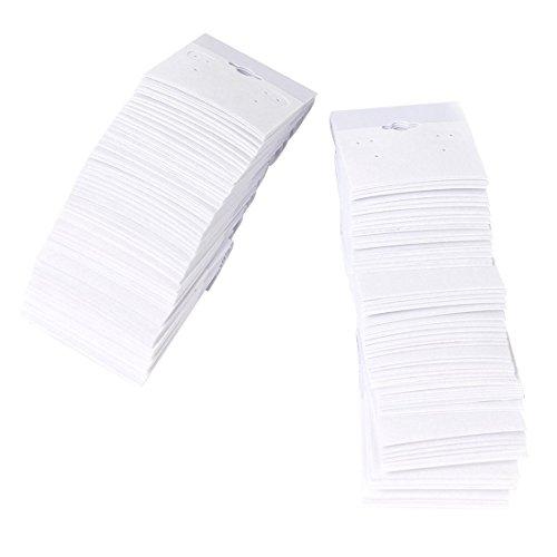 - SODIAL(R) 56cm White-Flocked Velvet Earring Display Hang Cards Hanger