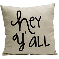 BrockOutletStore Pillowcases Hey Yall 18x18(inches)