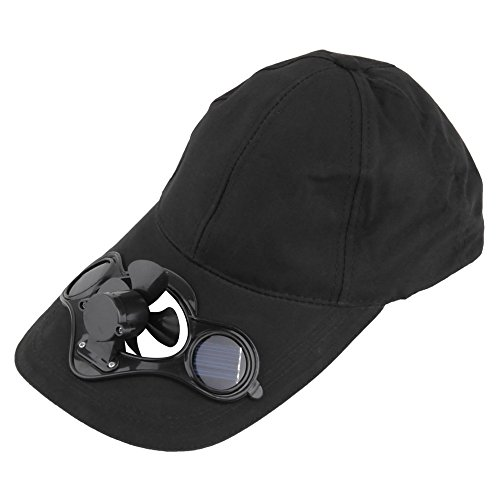 Outdoor Hat Cap with Solar Sun Power Cool Fan for Cycling ()