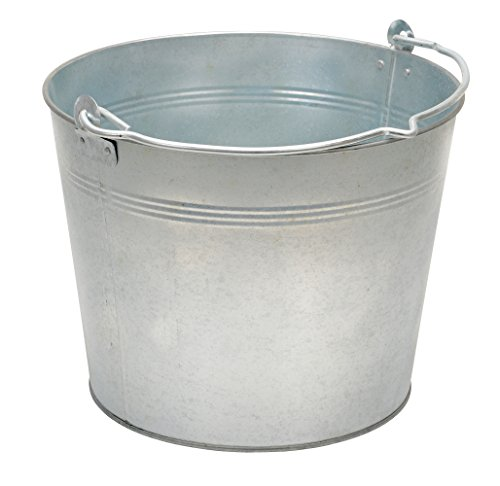 Vestil BKT-GAL-325 Galvanized Steel Bucket, 9-13/16