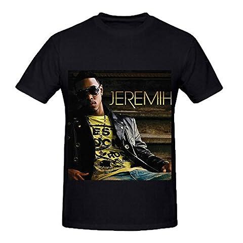Jeremih Jazz Album Men Crew Neck Graphic Shirts Black (Button Pins Beyonce)