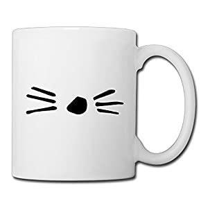Christina Dan And Phil Cat Whiskers Logo Ceramic Coffee Mug Tea Cup White