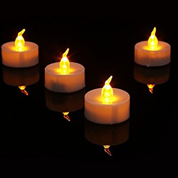 realistic bright flameless led tea light candles bright flickering battery. Black Bedroom Furniture Sets. Home Design Ideas