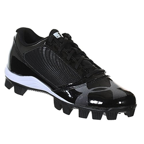 UNDER ARMOUR YARD RM LOW JR BLACK / BLACK YOUTH MOLDED BASEBALL CLEATS 11K - Image 4