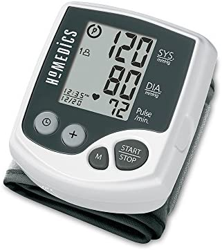 HoMedics Automatic Wrist Blood Pressure Monitor 2 Users, 120 Stored Readings, Memory Average Function Fast Accurate Readings, BONUS Protective Case Included