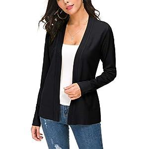 Women's Knit Cardigan Open Front Sweater Coat Long Sleeve