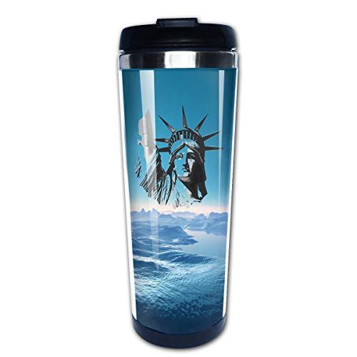 Statue Of Liberty Football PortableCoffee Cup Travel Mug 13.5 Oz -
