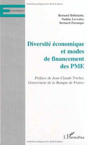 Diversite Economique Et Modes de Financement Des Pme