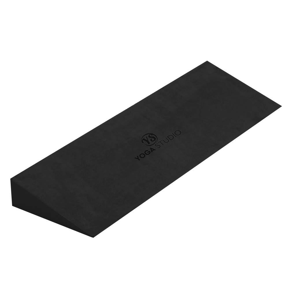 Yoga Studio Yoga Cuña - Negro, 50x15x5cm, Cuña EVA Antideslizante para Iyengar Yoga, Accesorio Ejercicio Ligero