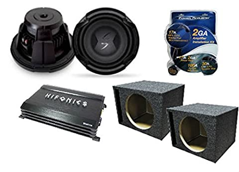 Complete Auto Subwoofer Amp Combo Package Including (2) Lightning Audio L3-D210 10