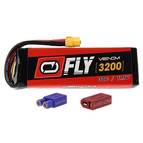 Venom Airplane - Venom Fly 30C 3S 3200mAh 11.1V LiPo Battery with UNI 2.0 Plug (XT60/Deans/EC3) - Compare to E-flite EFLB32003S