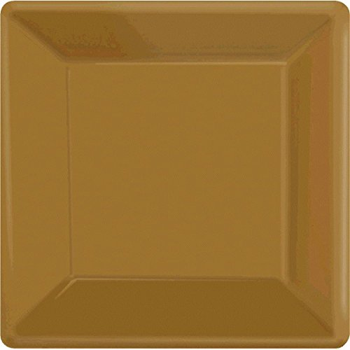 - Gold Square Paper Plates 10
