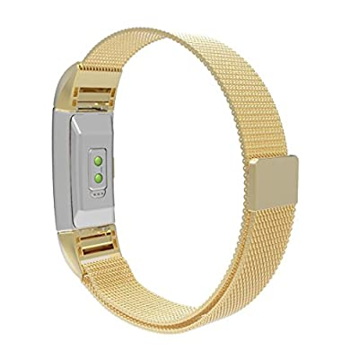ONEMORES(TM) Milanese Stainless Steel Watch Band Strap Bracelet For Fitbit Charge 2 Tracker